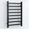Brooklyn Square 800 x 500mm Black Nickel Heated Towel Rail profile small image view 1