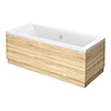 Brooklyn Natural Oak 0TH Double Ended Bath profile small image view 1