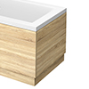 Brooklyn Natural Oak Wood Effect End Bath Panels - Various Sizes profile small image view 1
