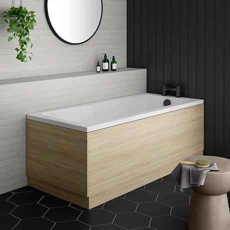 Brooklyn Natural Oak Single Ended Bath
