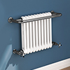Bromley Black Nickel Traditional Wall Hung Towel Rail Radiator (742 x 492mm) profile small image view 1