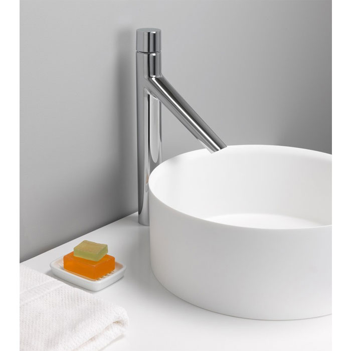Crosswater - Bold Tall Monobloc Basin Mixer - BO112DNC profile large image view 2