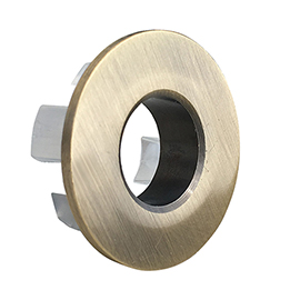 Brushed Brass Basin Overflow Cover Insert Hole Trim