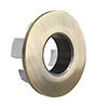 Brushed Brass Basin Overflow Cover Insert Hole Trim profile small image view 1