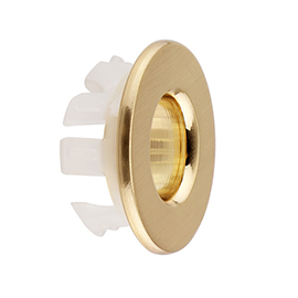 Arezzo Brushed Brass Basin Overflow Cover Insert Hole Trim