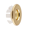 Arezzo Brushed Brass Basin Overflow Cover Insert Hole Trim profile small image view 1