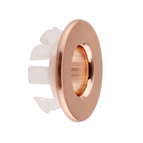 Arezzo Rose Gold Basin Overflow Cover Insert Hole Trim
