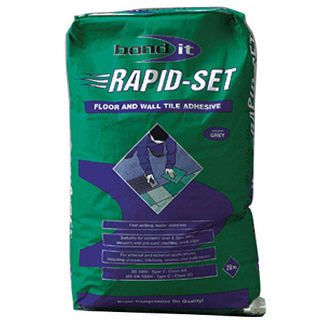 BOND IT RAPID-SET wall & floor Adhesive 20kg - Grey - BDRS20 Large Image