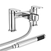 Bosa Bath Shower Mixer Taps + Shower Kit - Chrome profile small image view 1