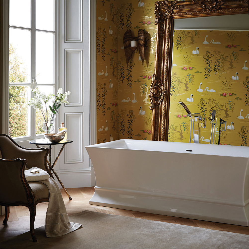 Heritage Penrose Freestanding Acrylic Double Ended Bath (1695 x 750mm) profile large image view 2