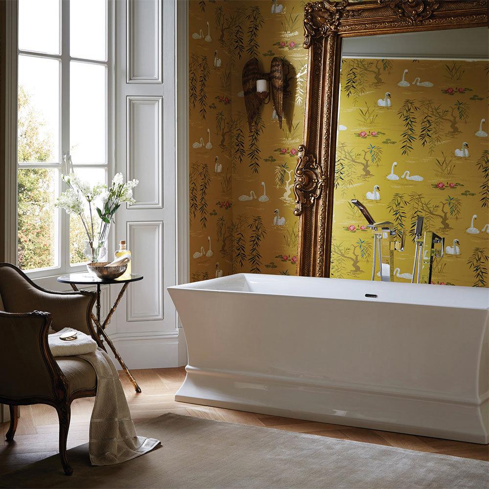 Heritage Penrose Freestanding Acrylic Double Ended Bath (1695 x 750mm) Profile Large Image