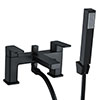 Turin Modern Black Chrome Bath Shower Mixer Tap Inc. Shower Kit - BPT7131 profile small image view 1