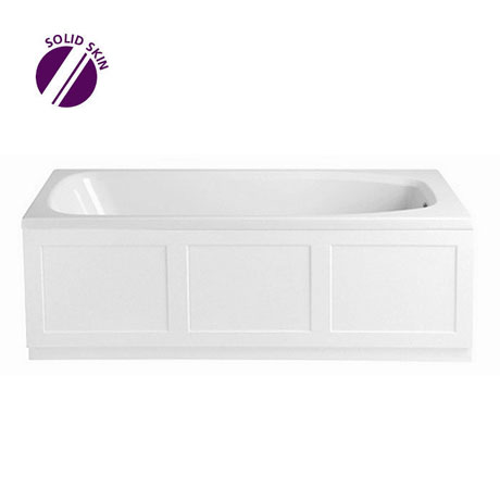 Heritage Belmonte Single Ended Bath with Solid Skin (1524x750mm)