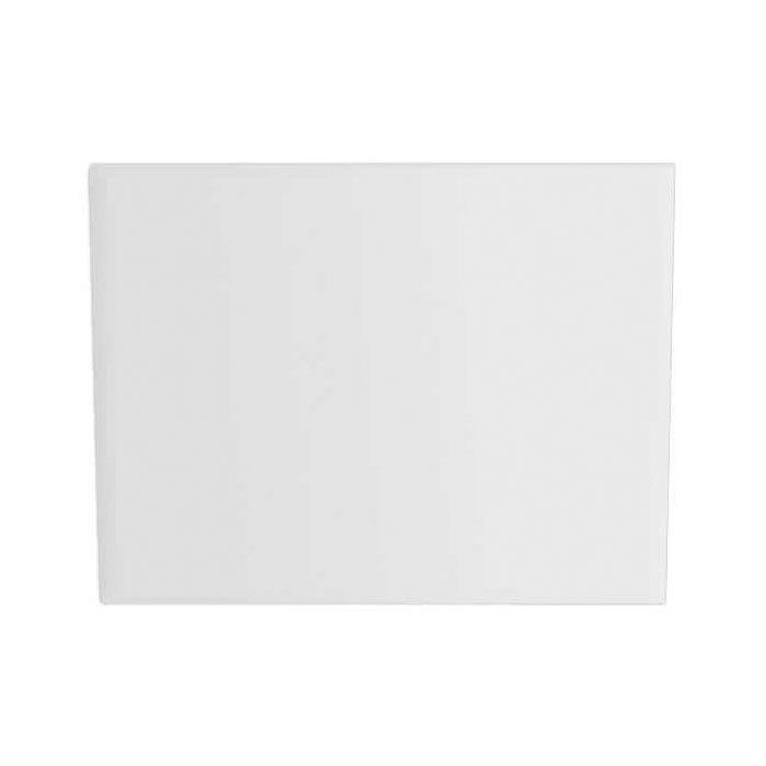 Heritage 800mm White Reinforced End Bath Panel Large Image