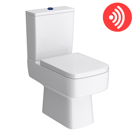 Brooklyn Modern Infra Red Flush Square Toilet + Soft Close Seat
