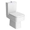 Brooklyn Modern Infra Red Flush Square Toilet + Soft Close Seat profile small image view 1