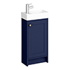 Bromley Traditional Blue Cloakroom Vanity Unit (inc. Ceramic Basin) profile small image view 1