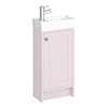 Bromley Traditional Pink Cloakroom Vanity Unit (inc. Ceramic Basin) profile small image view 1
