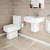 Brooklyn 4-Piece Modern Bathroom Suite (with Semi Pedestal) profile small image view 1