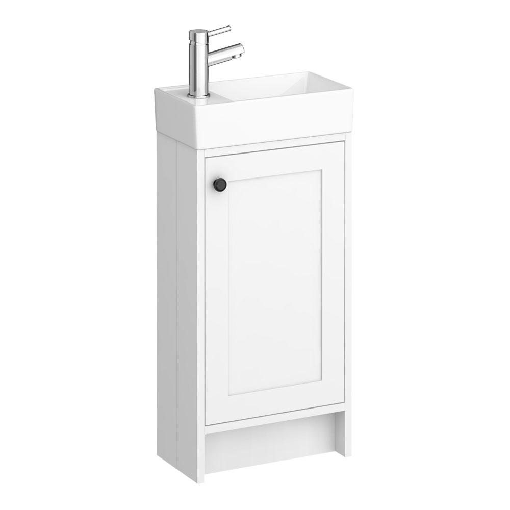 Bromley Traditional White Cloakroom Vanity Unit (inc. Ceramic Basin)