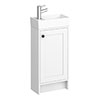 Bromley Traditional White Cloakroom Vanity Unit (inc. Ceramic Basin) profile small image view 1