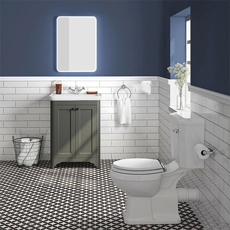 Bromley Grey Traditional Vanity Unit + Toilet Suite