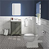 Bromley Grey Traditional Vanity Unit + Toilet Suite profile small image view 1