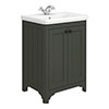 Bromley 628mm Traditional Grey Vanity Unit (Inc. Ceramic Basin) profile small image view 1
