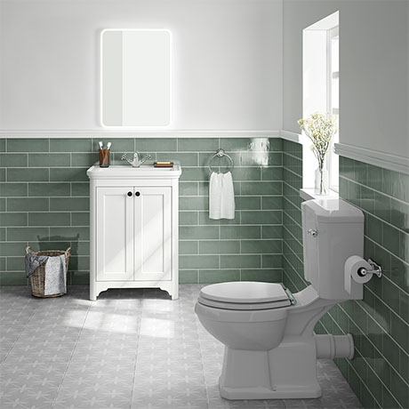 Bromley White Traditional Vanity Unit + Toilet Suite