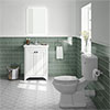 Bromley White Traditional Vanity Unit + Toilet Suite profile small image view 1