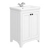 Bromley 628mm Traditional White Vanity Unit (Inc. Ceramic Basin) profile small image view 1