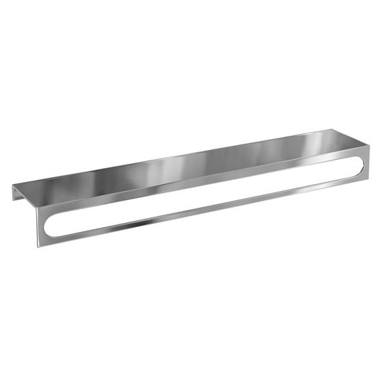 Britton Bathrooms - 55cm Stainless Steel Shelf with a Towel Rail Large Image