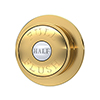 Chatsworth Traditional Dual Flush Push Button - Brushed Brass profile small image view 1