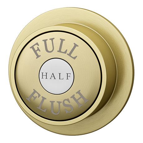 Chatsworth Traditional Dual Flush Push Button - Brushed Brass