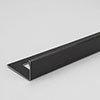 Tile Rite Boutique 12mm Brushed Black L-Shape Metal Tile Trim profile small image view 1