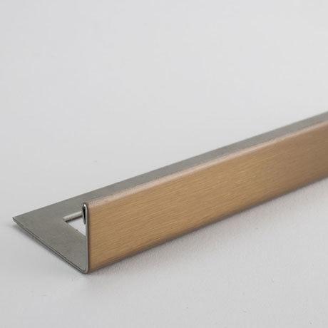 Tile Rite Boutique 10mm Brushed Copper L-Shape Metal Tile Trim