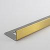 Tile Rite Boutique 10mm Brushed Gold L-Shape Metal Tile Trim profile small image view 1