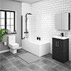Brooklyn Hacienda Black Bathroom Suite profile small image view 1