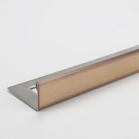 Tile Rite Boutique 10mm Bright Copper L-Shape Metal Tile Trim