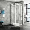 Nova Square 800 x 800mm Frameless Corner Entry Shower Enclosure profile small image view 1