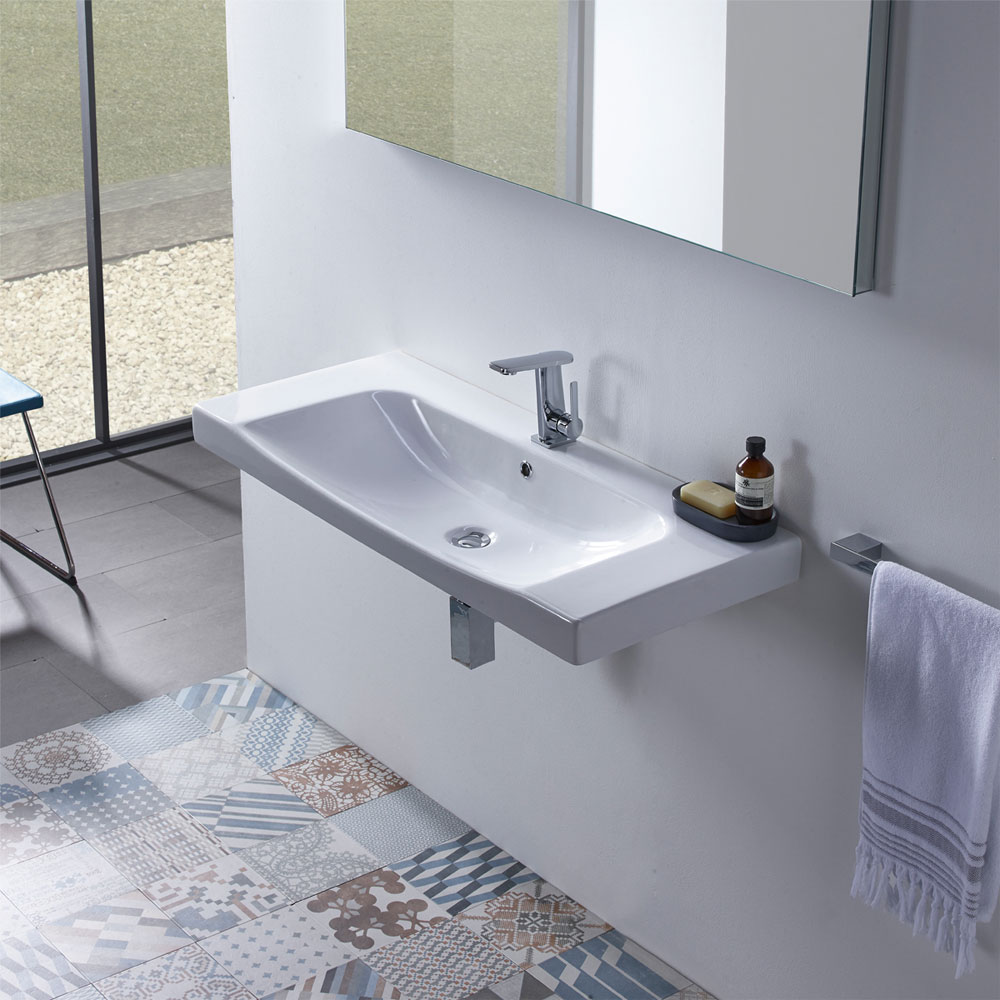 Roper Rhodes Breathe 1010mm Countertop or Wall Mounted Basin - BRE1000C Profile Large Image