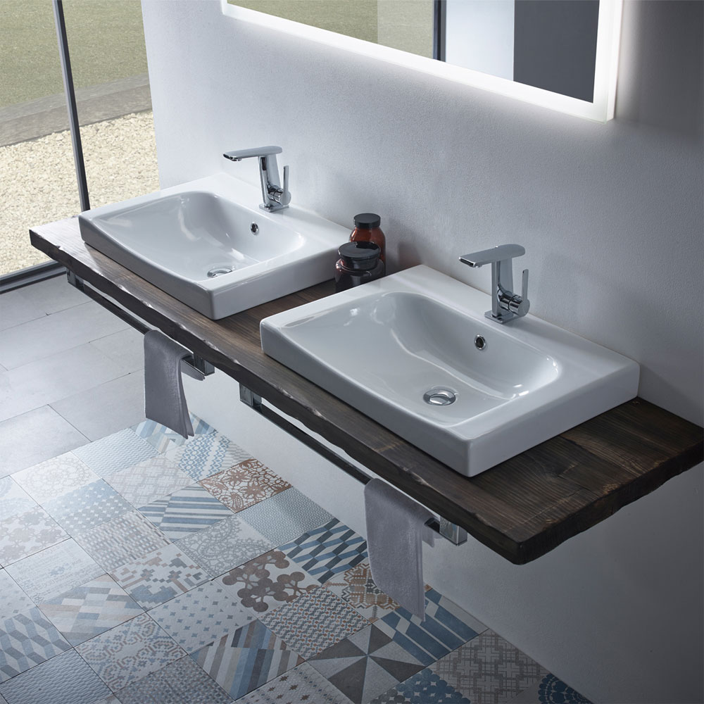 Roper Rhodes Breathe 610mm Countertop or Wall Mounted Basin - BRE600C profile large image view 2