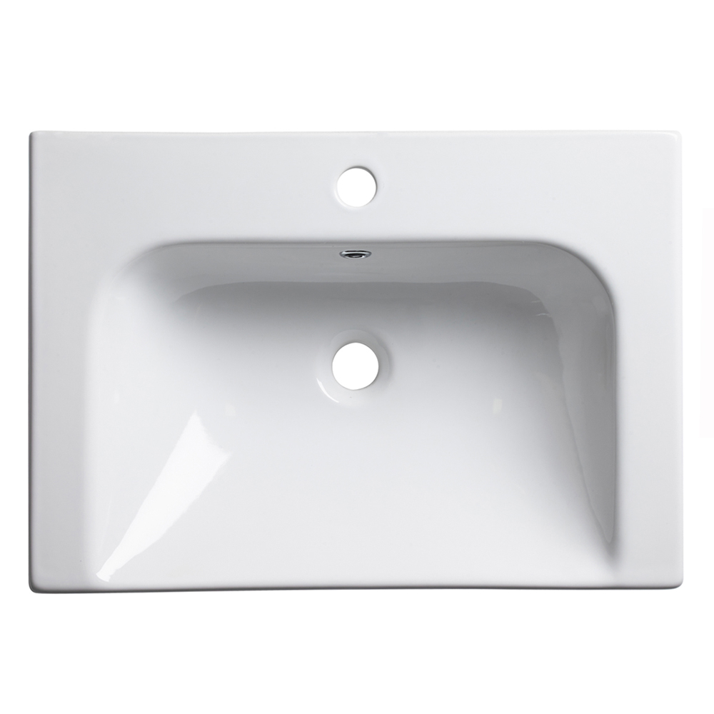 Roper Rhodes Breathe 610mm Countertop or Wall Mounted Basin - BRE600C profile large image view 4