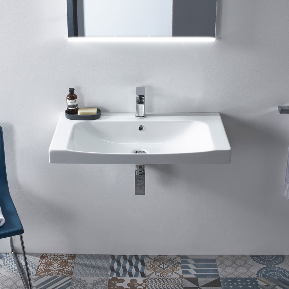 Roper Rhodes Breathe 810mm Countertop or Wall Mounted Basin - BRE800C Profile Large Image