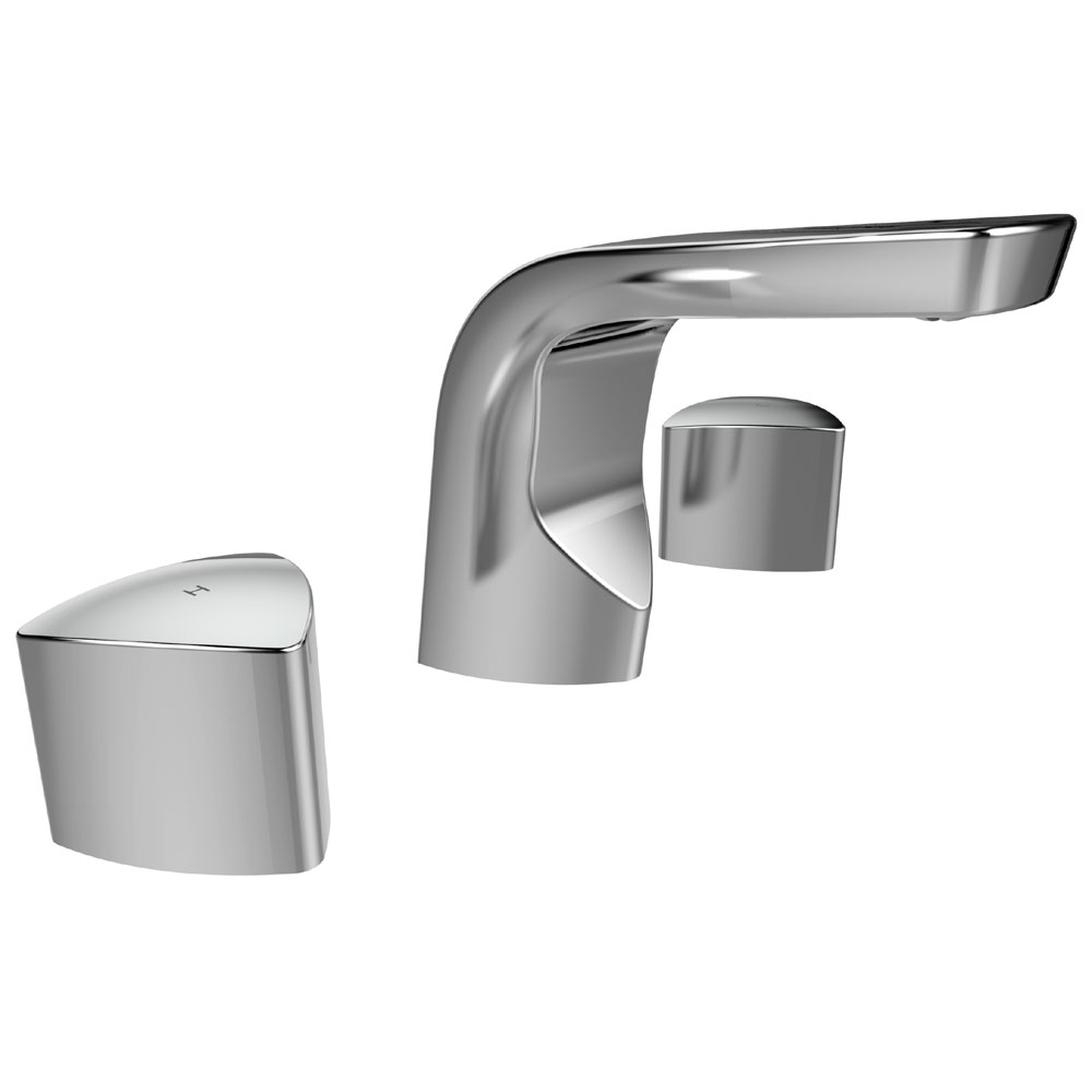 Bristan Bright 3 Hole Basin Mixer with Clicker Waste profile large image view 3