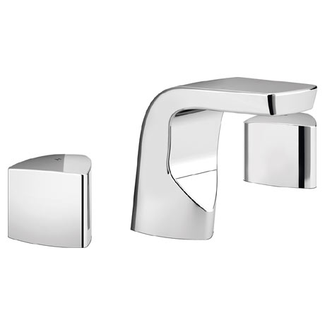 Bristan Bright 3 Hole Basin Mixer with Clicker Waste