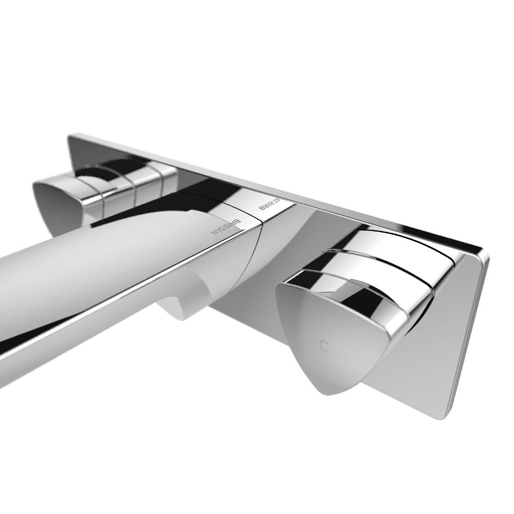 Bristan Bright Wall Mounted Basin Mixer Feature Large Image