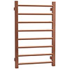 Brooklyn 800 x 500mm Rose Gold Straight Heated Towel Rail profile small image view 1