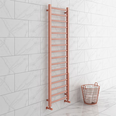 Brooklyn 1600 x 500mm Rose Gold Straight Heated Towel Rail