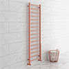 Brooklyn 1600 x 500mm Rose Gold Straight Heated Towel Rail profile small image view 1
